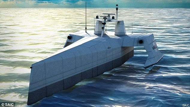 The Anti-submarine Warfare Continuous Trail Unmanned Vessel, or ACTUV will be able to operate for several months at a time scouring the seas and coastal areas for silent, diesel powered enemy submarines.