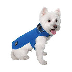 American Kennel Club Premium Reversible Plaid Fleece Lined Cozy Coat for Dogs, Blue - X-Small, Size: XS