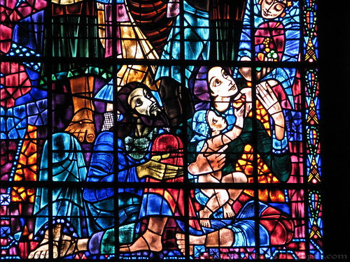 Detail of stained glass