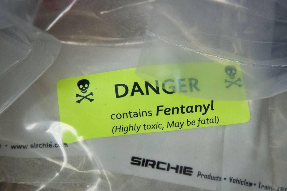 Bolsas de heroína, adulteradas con fentalino.