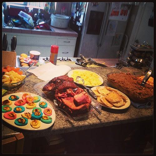 Easter Breakfast is served!! #easter #breakfast