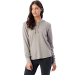 Alternative - Women's Cozy Vintage Heavy Knit Pullover Hoodie - 7594, Smoke Grey