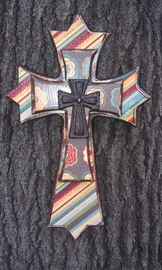 Handmade layered wood cross