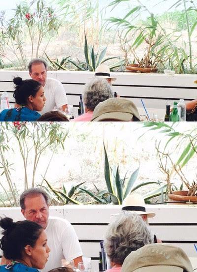 O almoço do senador Delcídio do Amaral (ele está de costas) (Foto: Reprodução)