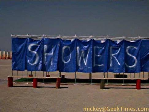 group shower stalls