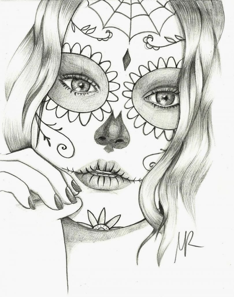 Sugar Skull Coloring Pages - Coloring Home