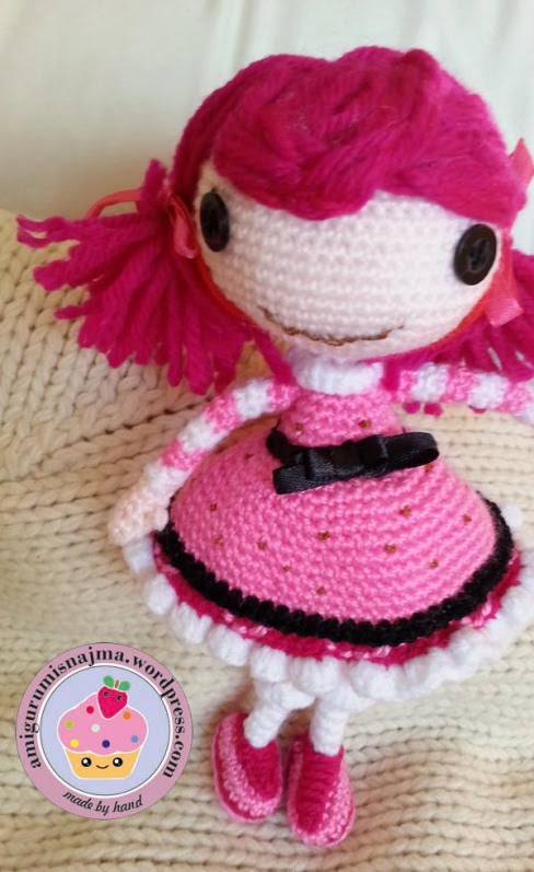 Lalaloopsy Toffee Cocoa Cuddles doll amigurumi-02