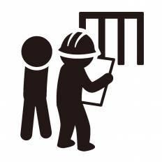 工事現場シルエット イラストの無料ダウンロードサイトシルエットac