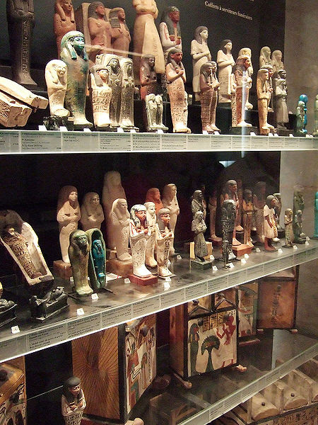 File:Egyptian funerary figurines louvre.jpg
