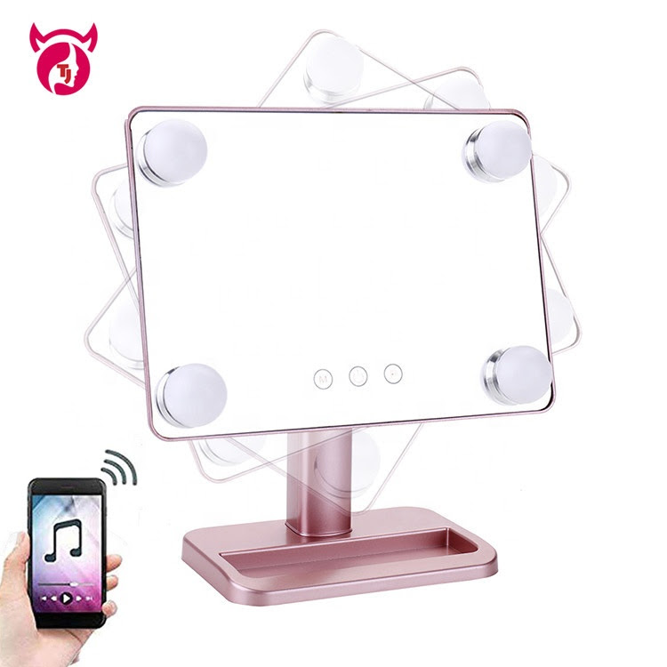 Wholesale Smart Mirror Speaker Vanity Girl Led Makeup Mirror With