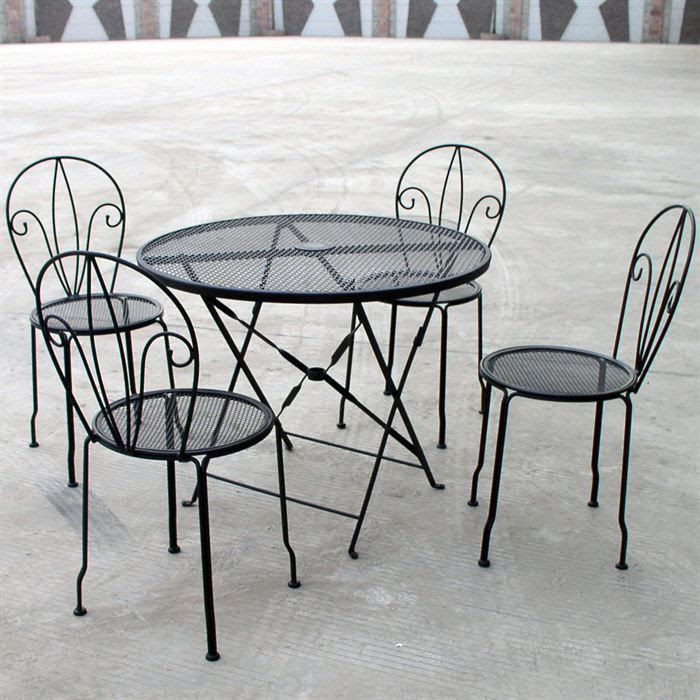 Table De Jardin Ronde En Bois Leclerc