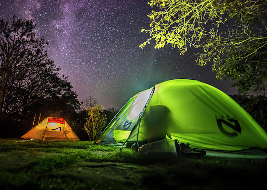 Camping Beneath The Milky Way by Andy Crawford