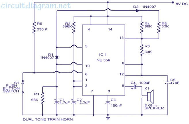 train horn circuit easy - circuit diagram images, Wiring diagram