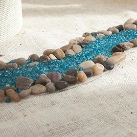 Río de piedras azul de 25cm