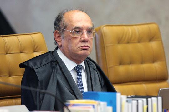 Ministro Gilmar Mendes durante sessão do STF. Foto : Carlos Moura/SCO/STF