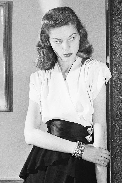 gorgeous. {Lauren Bacall circa 1945}