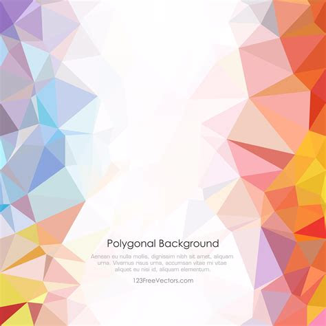 light color abstract  poly background vector