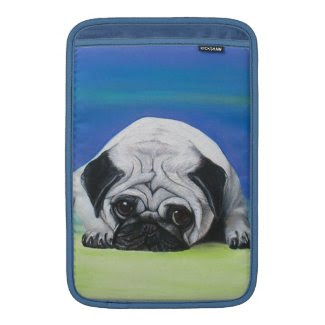 Pug Dog MacBook Sleeves