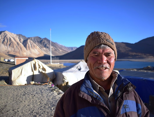 Morning in Camp Pangong