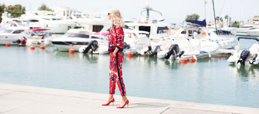 Floral print look from head to toe? | Style inspiratrice