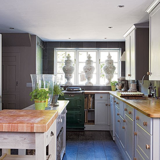 Rustic kitchen Edwardian country house Decorating