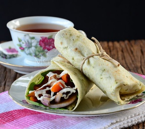 CHICKEN HONEY MUSTARD WRAPS...