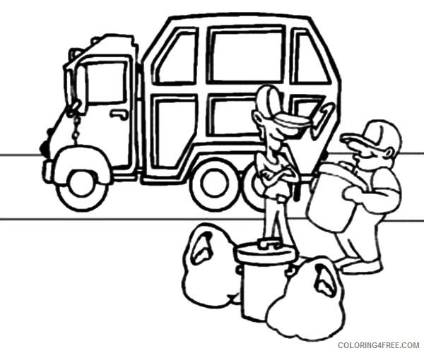 Garbage Truck Coloring Page - Bilscreen