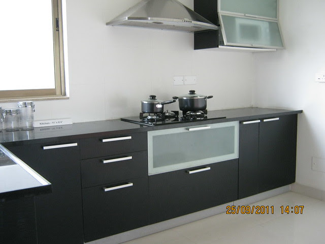 Kitchen of a 3 BHK Sample Flat in Tower 1 at Paranjape Schemes' Blue Ridge, Hinjewadi Phase 1, Pune