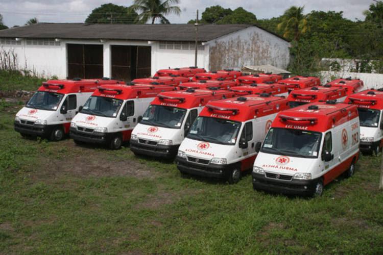 Parte das ambulâncias chegaram ao Estado em junho de 2011