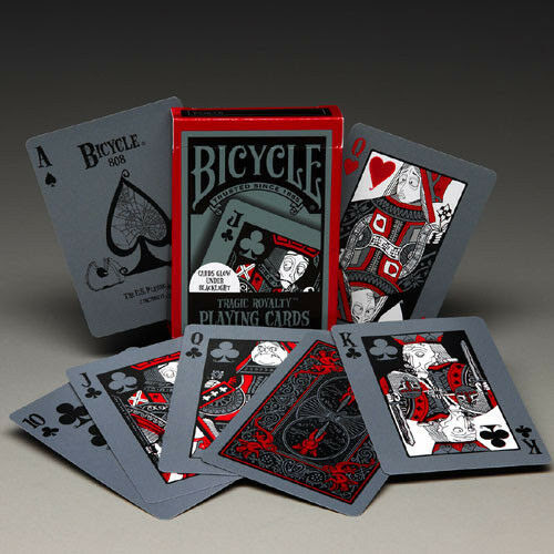 Details about 1 Deck Bicycle Tragic Royalty Standard Poker Playing Cards Brand New Deck