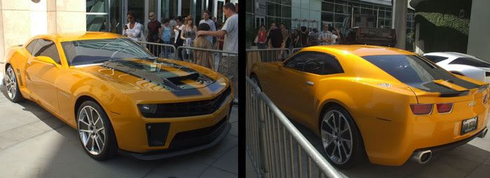 The 2010 Chevy Camaro that represents Bumblebee in TRANSFORMERS 2.
