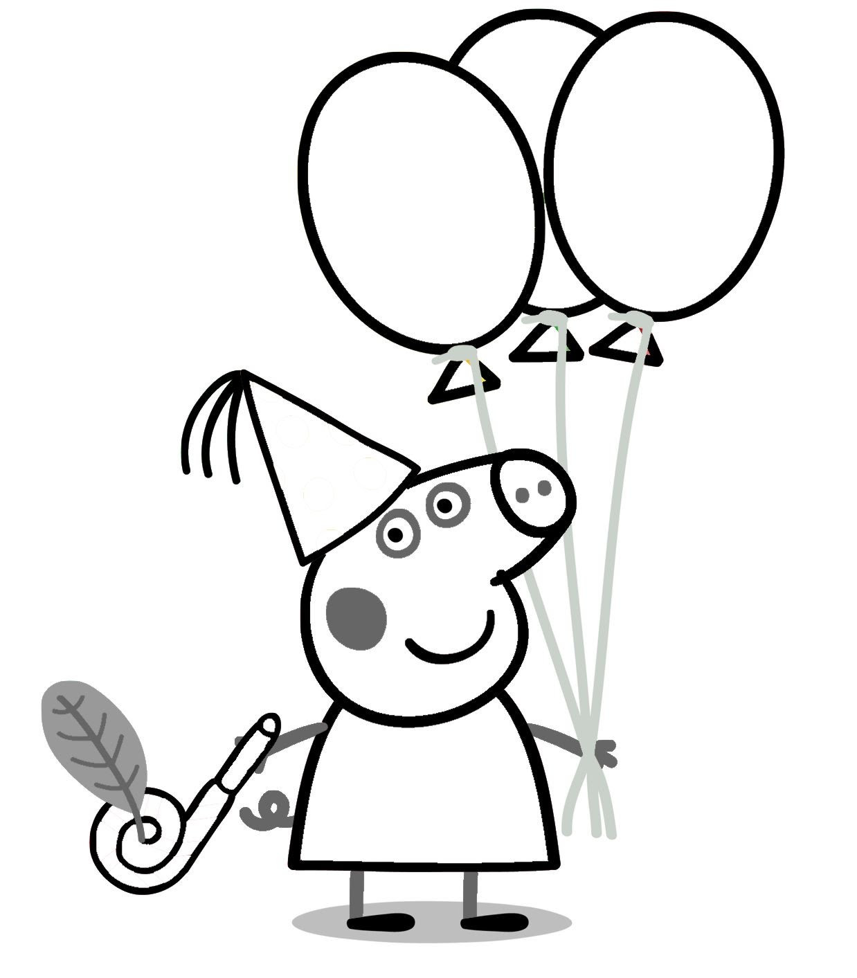 Peppa Coloring Pages At Getcoloringscom Free Printable Colorings