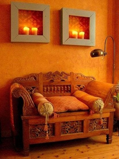 Decorating in Orange: so many variations and they create such warmth and coziness.