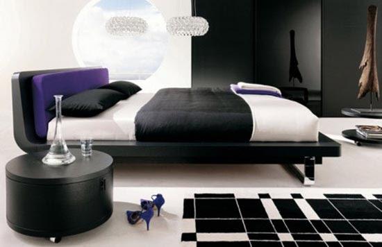 Stylish Gothic bedrooms . Bedroom interior design ideas. Gothic Style.