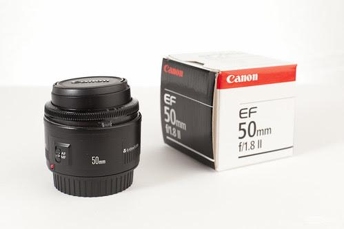 Canon EF 50mm f/1.8 II - balesetes