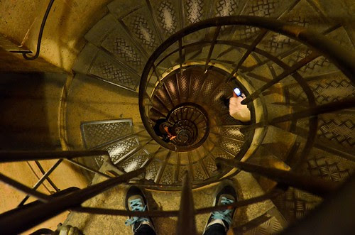 Down the Arc de Triomphe Stairs