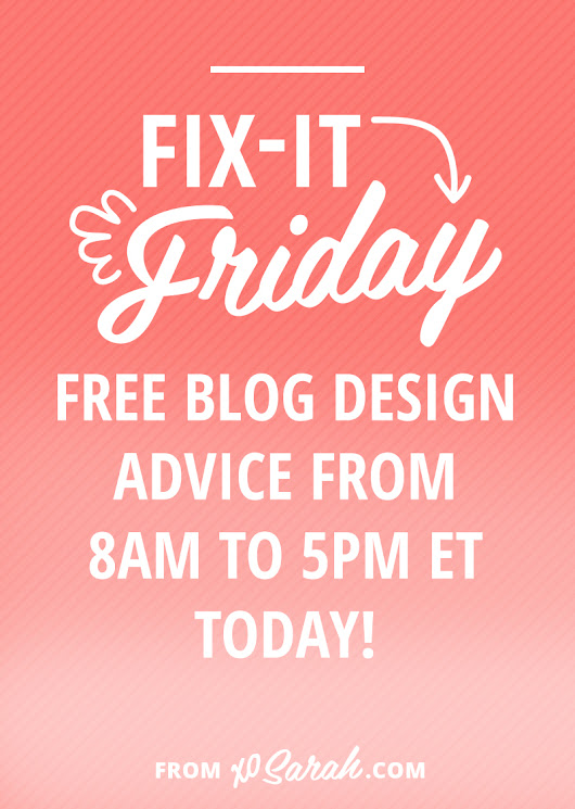 Fix-It Friday