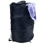 Lavish Home 67-15-BLA 19 in. Breathable Pop Up Laundry Clothes Hamper Black