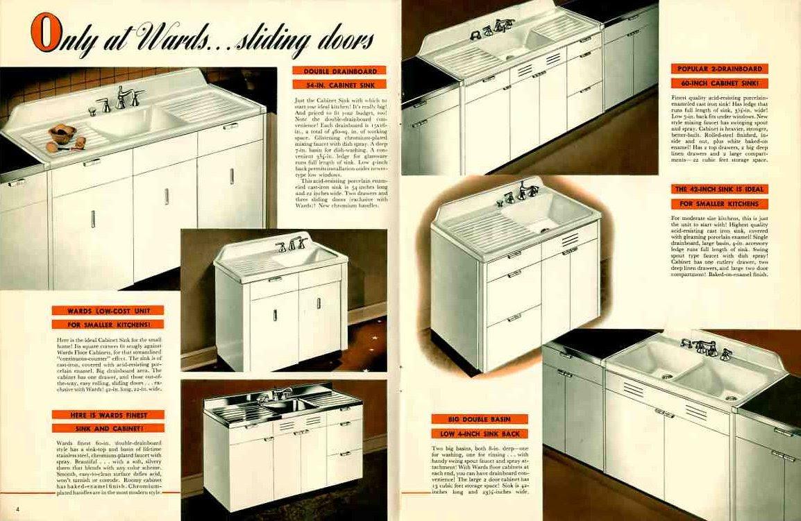 Vintage 1941 Montgomery Ward metal kitchen cabinets ...
