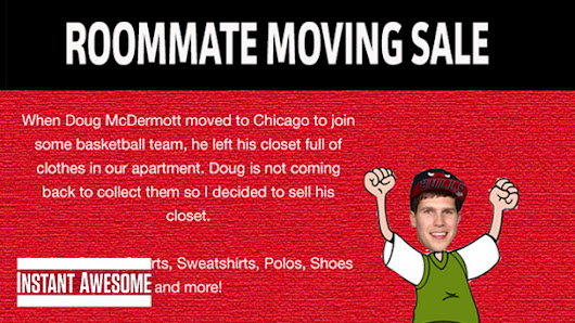 SN: Doug McDermott left his clothes in Omaha, so his old roommate is selling them