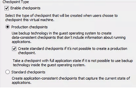 Weigh the differences between Windows Server 2016 Hyper-V checkpoints