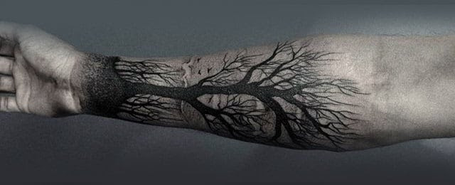 60 Forearm Tree Tattoo Designs For Men Forest Ink Ideas
