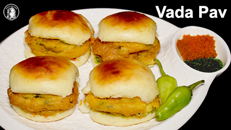Vada Pav Recipe with Homemade Bread Without Oven - Kitchen ...