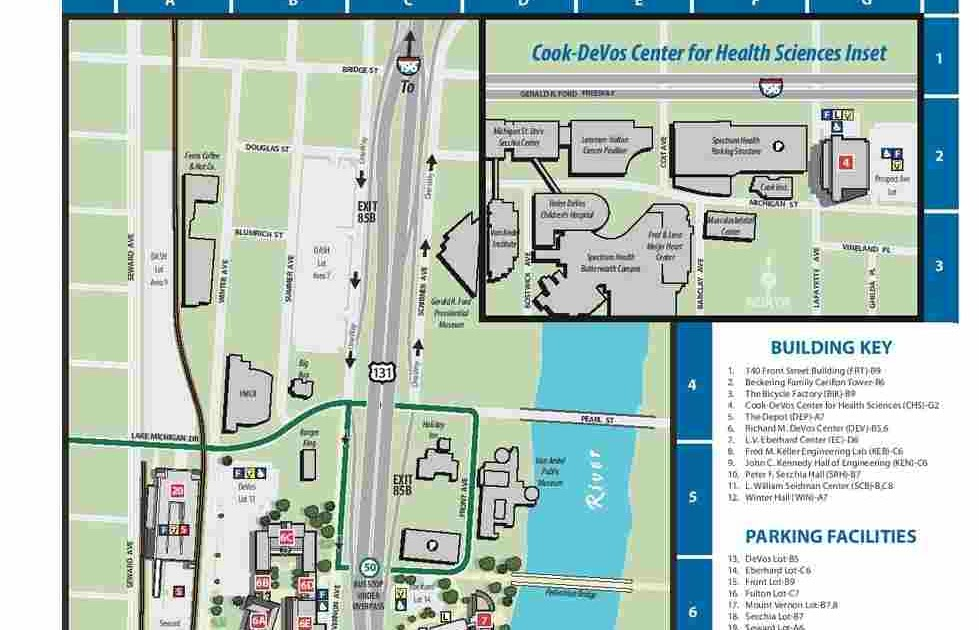 Grand Valley Pew Campus Map.Pew Campus Map World Map Interactive