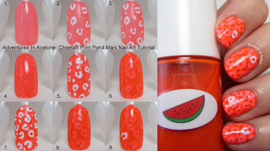 Tutorial Tuesday: Cheetah Print Pond Mani - Adventures In Acetone