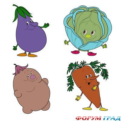 Elise : раскраска овощи с огорода