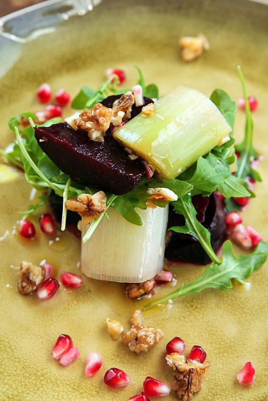 beetroot leek salad