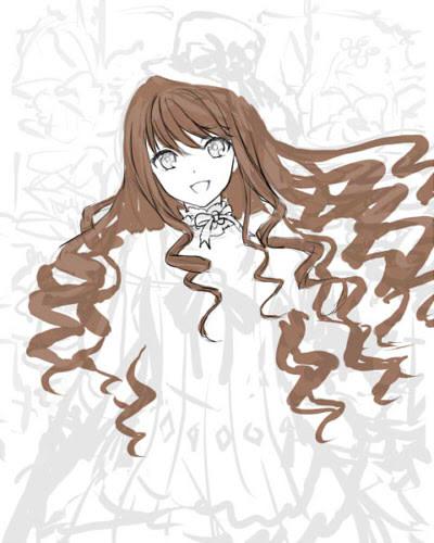 ラフの作成巻き髪の描き方 Saiメイキング