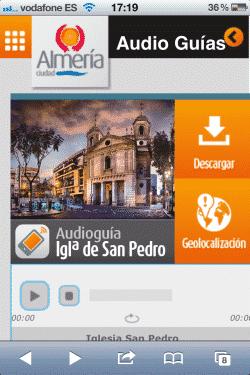Web móvil y audioguia de la Iglesia de San Pedro de Almería