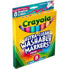 Crayola - Marker - non-permanent - assorted tropical colors - broad - pack of 8